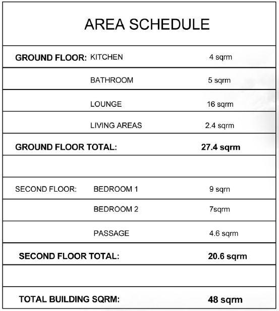 D- area schedule