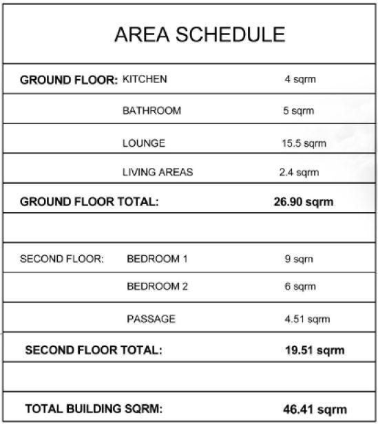 E-area schedule